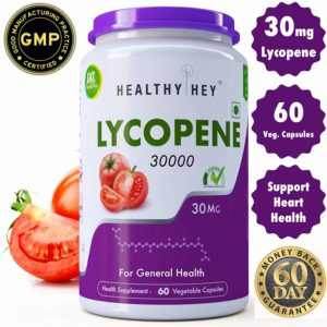 HealthyHey Nutrition Pack of Lycopene 60 Vegetable Capsules (30MG)