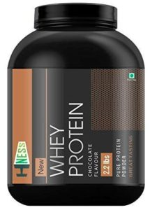 Hness 100% Pure Whey Energy Protein Supplement Powder with Vitamins & Minerals