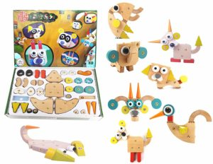 Jack Royal Cute Pet Club Animal Wooden Block Puzzles