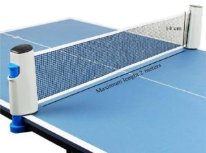 Klapp Adjustable Table Tennis Net with Push Clamps