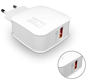 LCARE Universal QC 3.0 Quick Charging Wall Charger with Single USB Port (White)