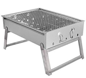 MORADIYA FRESH (LABEL) Stainless Steel Charcoal Barbecue BBQ Grill, Fan, Brush