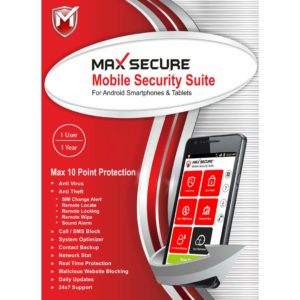 Max Secure Software Max Total Security for Android Version 6 - 1 Phone, 1 Year
