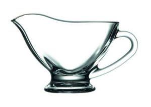 Pasabahce Basic Glass Sauce Boat, Clear