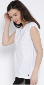 Pepe Jeans White Printed Top