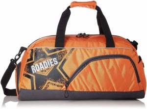 Roadies By The Vertical Iron Polyester 55 cms Grey Travel Duffle