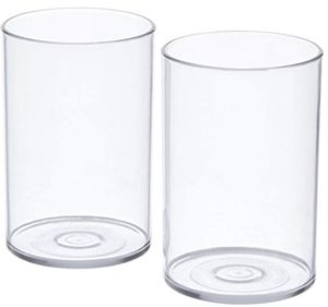 Signoraware Crystal Clear Glass Set, 280ml, Set of 2, Clear