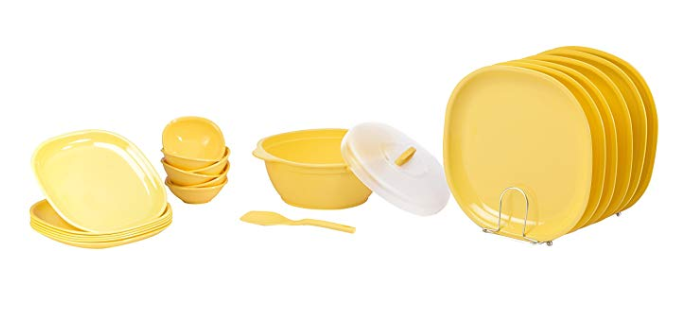 Signoraware Square Dinner Set, 21-Pieces
