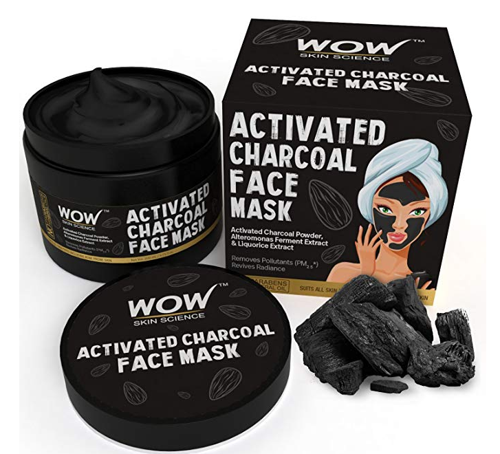 WOW Activated Charcoal Face Mask with PM 2.5 Anti-Pollution Shield