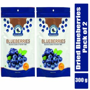 Wonderland Dried Blueberry 300g Combo Pack of 2 (150g Each)