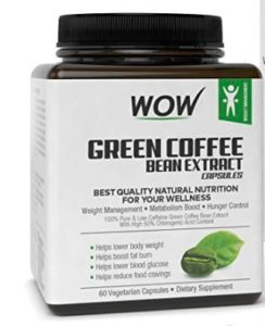 Wow Green Coffee Bean Extract Capsules - 60 Count