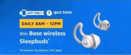 amazon quiz bose wireless sleepbuds
