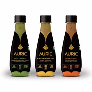 Auric Ayurvedic Beverage For Mind Body & Skin, Ready To Drink Juice, Superherbs with Coconut Water