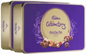 Cadbury Celebration Rich Dry Fruit Chocolate Gift Pack, 177 gm - Pack of 2 Bars (Pack of 2, 177 g)