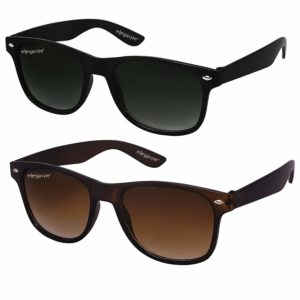 ELEGANTE Combo of 2 Wayfarer Men's Sunglasses