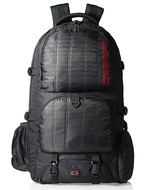 GEAR Black and Red Eco Rucksack