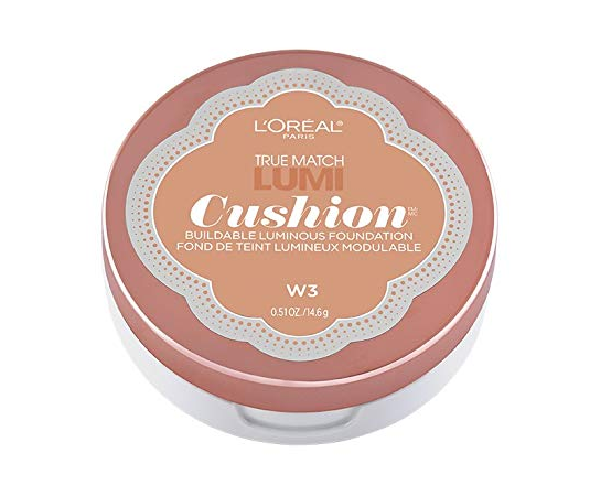 L'Oreal Paris True Match Lumi Cushion Foundation, W3 Nude Beige, 14.6g
