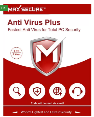 Max Secure 1 User 1 Year Anti-virus Activation Code  (Personal Edition)