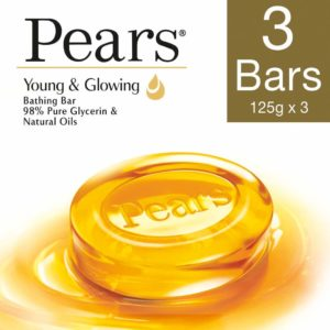 Pears Pure and Gentle Bar, 125g (Pack of 3)