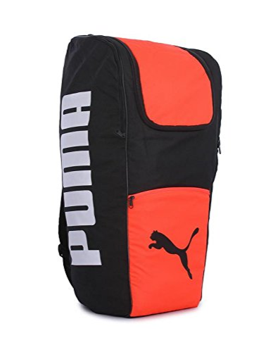 Puma 22 Ltrs Black Fiery Coral Laptop Backpack (7537801)