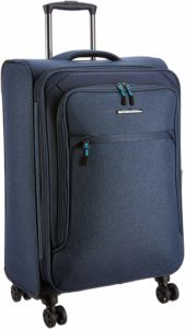 Teakwood Synthetic 28 cms Blue Hardsided Check-in Luggage