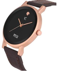 YOUTH CLUB Quartz Movement Analogue Brown Dial Men's and Women's Watch - Set of 2