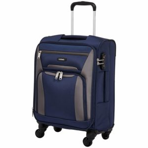 Amazon Brand - Solimo 56.5 cms Softsided Suitcase with Wheels