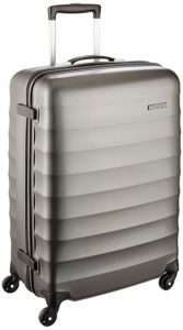 American Tourister Polyester 55 cms Gunmetal Hardsided Suitcase