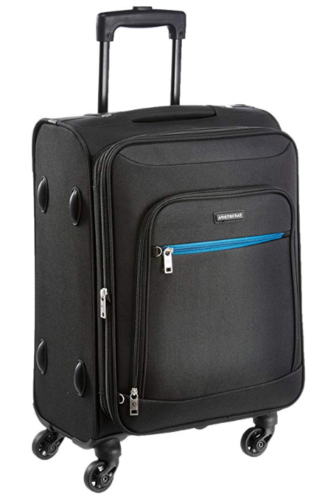Aristocrat Nile Polyester 54 cms Black Soft Sided Carry-On