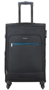 Aristocrat Nile Polyester 66 cms Black Suitcase (STNILW66BLK)
