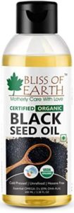 Bliss of Earth Certified Organic Unrefined Gluten and Hexane Free Immune System Booster Black Seed Oil