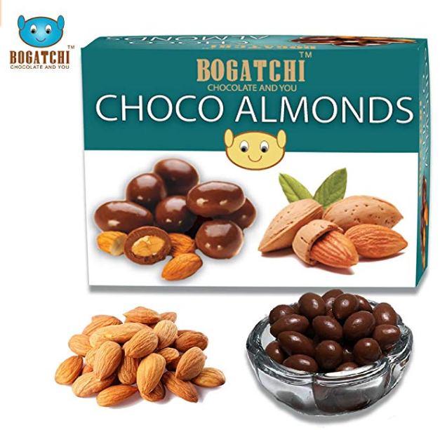 Bogatchi Chocolate Coated Almonds, 100g