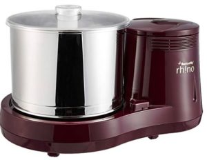 Butterfly Rhino 2-Litre Table Top Wet Grinder (Cherry)
