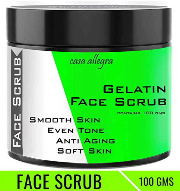 Casa Allegra Gelatin Face Scrub for Smooth Skin Tone
