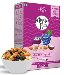 EAT Anytime Healthy Trail Mix, Fig and Raisin, 200g (Pack of 2)