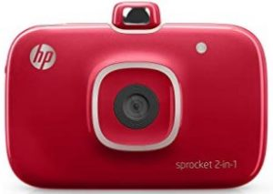 HP Sprocket 2-in-1 Portable Photo Printer and Instant Camera (Red) by HP