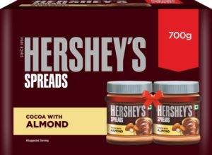 Hershey's Spreads Cocoa with Almond-Twin Pack 700 g