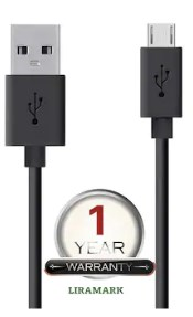 LIRAMARK Original Tough Micro USB Data Cable with Super Fast Charging up to 2.4Amps All Mobile Devices and Tablets ( Black )