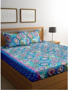 Amazon- Buy Cortina 104 TC Cotton Double Bedsheet