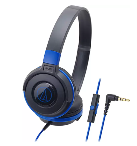 Audio Technica ATH-S100iS BBL Wired Headset with Mic