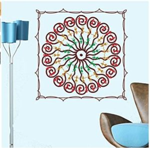 Decals Design 'Square with Circle Pattern' Wall Sticker
