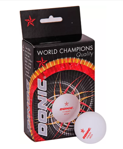 Donic donic-1 Table Tennis Ball  (Pack of 18, White)