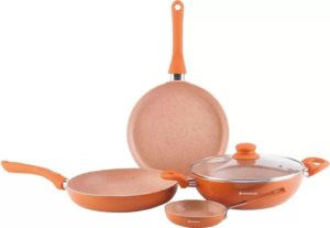 Flipkart- Wonderchef Valencia Induction Bottom Cookware Set  (Aluminium, 4 - Piece) at Rs 1259