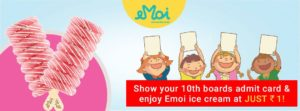 Get EMOI Ice Creams at Just Rs.1