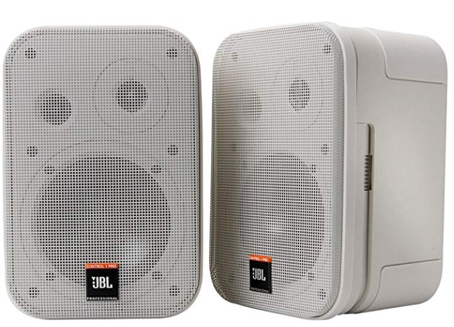 JBL C1PRO-WH 2-Way Professional Compact Loudspeaker (White)