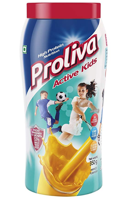Proliva Active Kids Mango Flavour High Nutrition Milk Protein Powder