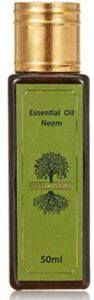 Roots & Above Aromatherapy Pure Natural Neem Essential Oil for Skin and Hair Treatment, 50ml