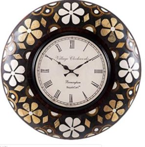 RoyalsCart Floral Painting Analog Wall Clock,