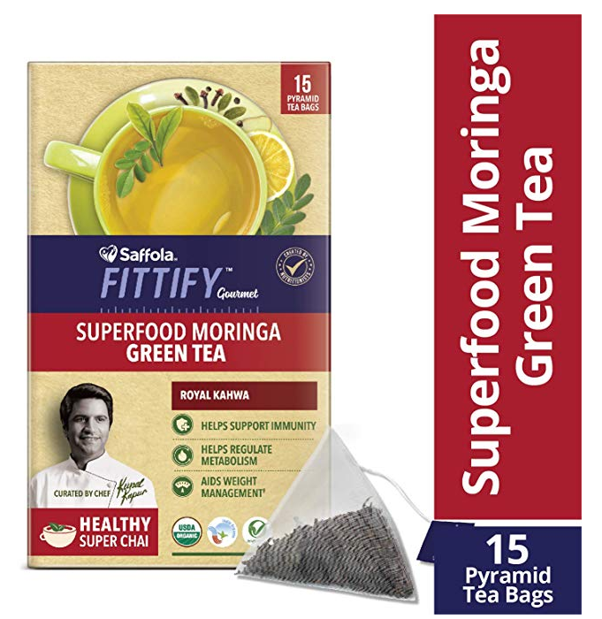 Saffola FITTIFY Gourmet Superfood Moringa Green Tea