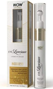 WOW Eye Luscious No Parabens & Mineral Oil Under Eye Roller, 15mL